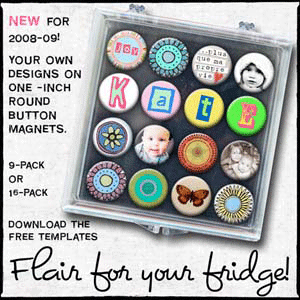 Designs on your own one inch Round Button Magnets
