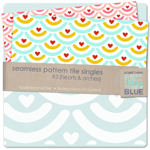 Seamless Pattern Tile Singles #3 - Hearts & Arches