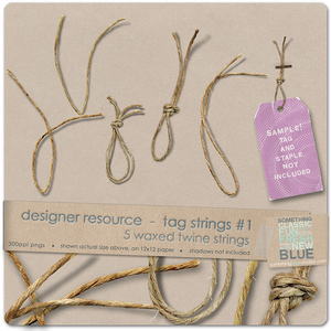 Tag Strings #1 - Waxed Twine {Designer Resource}