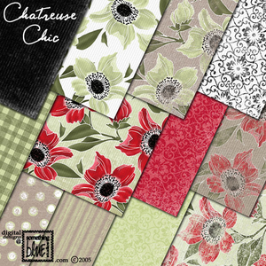 Chartreuse Chic Paper Pack for Download